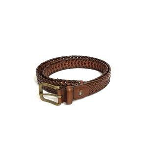 TOMMY HILFIGER Mens Cognac Woven Belt Size 38